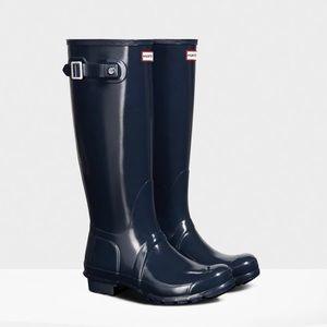 Navy Hunter Boots